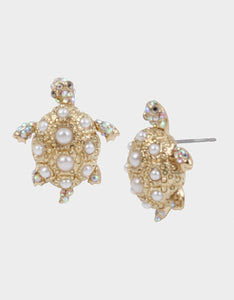 SURFMAID TURTLE STUD EARRINGS IVORY