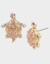 SURFMAID TURTLE STUD EARRINGS PINK - JEWELRY - Betsey Johnson