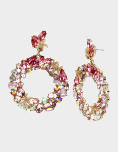 SURFMAID WREATH EARRINGS PINK