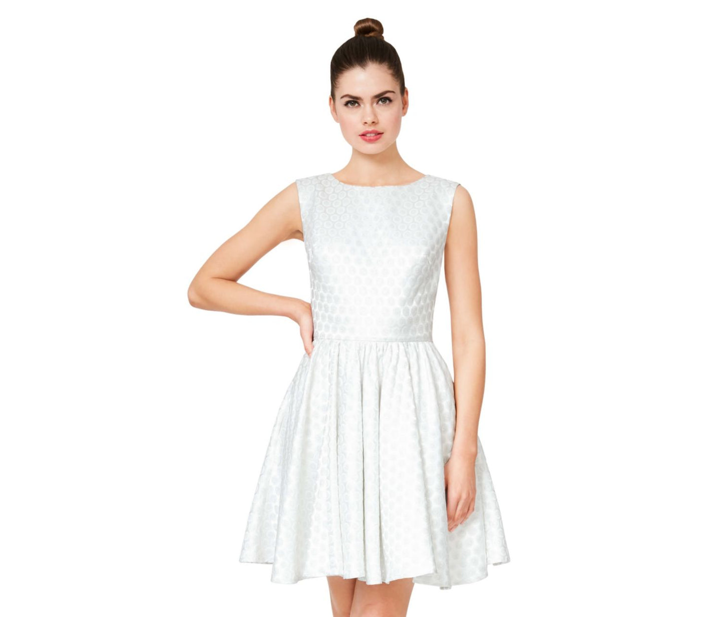 SWEET CONFECTION OPEN BACK PARTY DRESS WHITE - APPAREL - Betsey Johnson