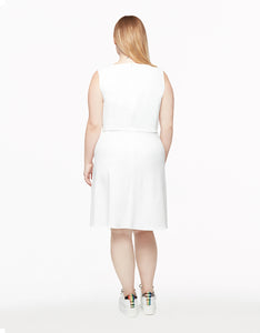SWEET CONFECTION PLUS SIZE RUFFLE DRESS IVORY