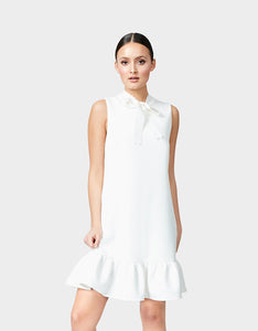 SWEET CONFECTION TIE NECK DRESS IVORY