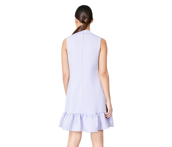 SWEET CONFECTION TIE NECK DRESS LILAC - APPAREL - Betsey Johnson