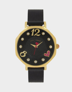 SWEETHEART HEXAGON WATCH BLACK