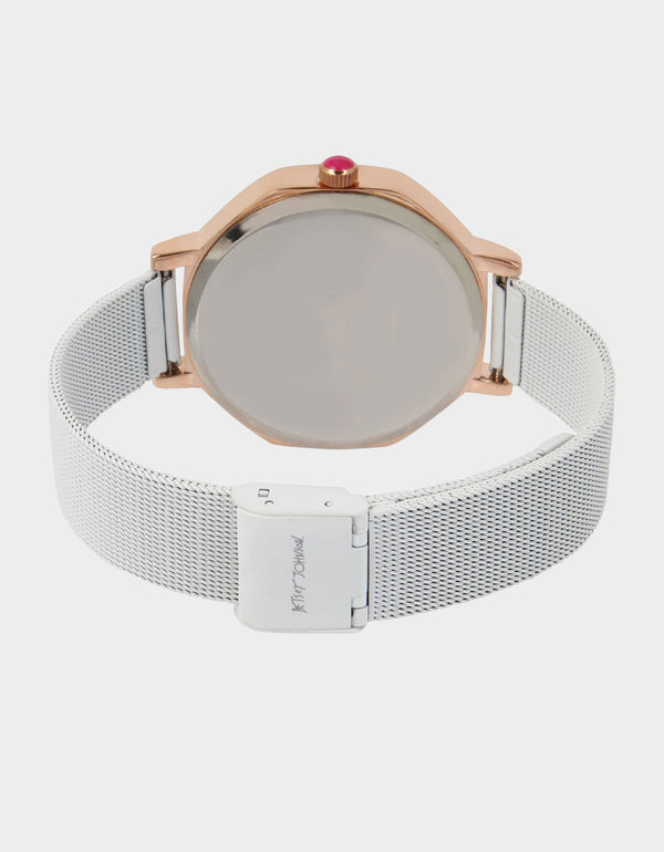 SWEETHEART HEXAGON WATCH WHITE - JEWELRY - Betsey Johnson