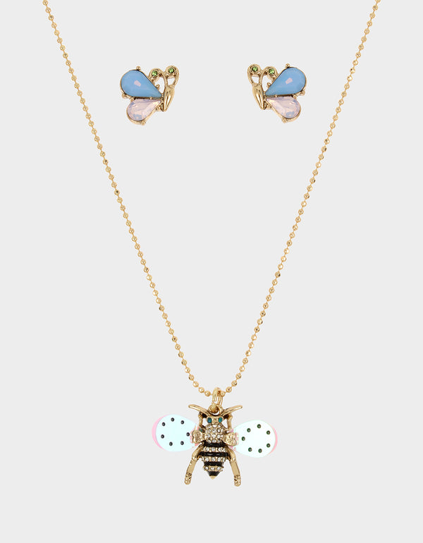 SWEETNESS AND LIGHT BEE SET CRYSTAL - JEWELRY - Betsey Johnson