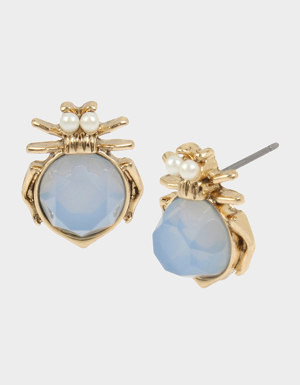 SWEETNESS AND LIGHT BUG STUD EARRINGS BLUE - JEWELRY - Betsey Johnson