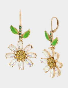 SWEETNESS AND LIGHT DAISY DROP EARRINGS YELLOW