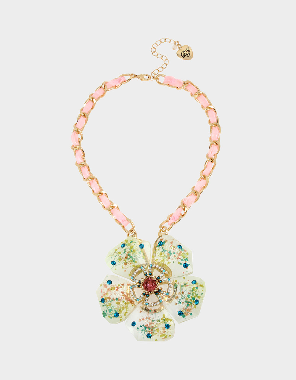 SWEETNESS AND LIGHT FLOWER NECKLACE MULTI - JEWELRY - Betsey Johnson