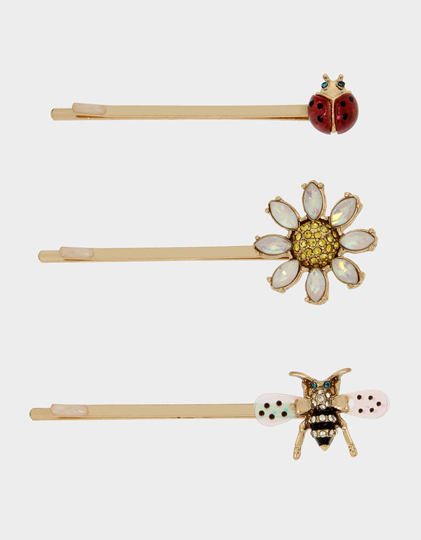 SWEETNESS AND LIGHT HAIR PIN SET MULTI - JEWELRY - Betsey Johnson