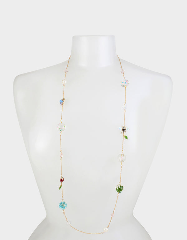 SWEETNESS AND LIGHT STATION NECKLACE MULTI - JEWELRY - Betsey Johnson