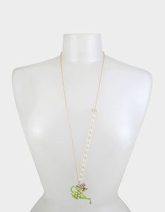 SWEETNESS AND LIGHT WATERING CAN NECKLACE GREEN