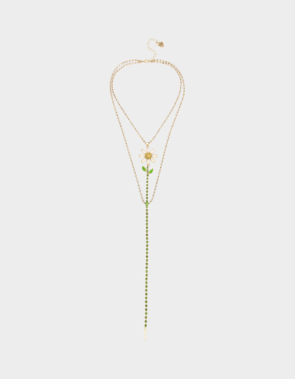 SWEETNESS AND LIGHT Y NECKLACE GREEN - JEWELRY - Betsey Johnson