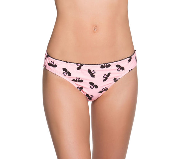SWOONING SWANS HIPSTER BOTTOM BLACK-PINK - APPAREL - Betsey Johnson