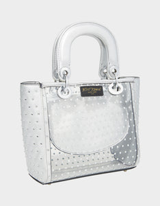 TAKE ME TO THE PROM TOP HANDLE BAG SILVER