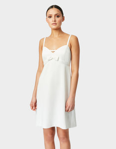 BOWTASTIC SUMMER DRESS WHITE