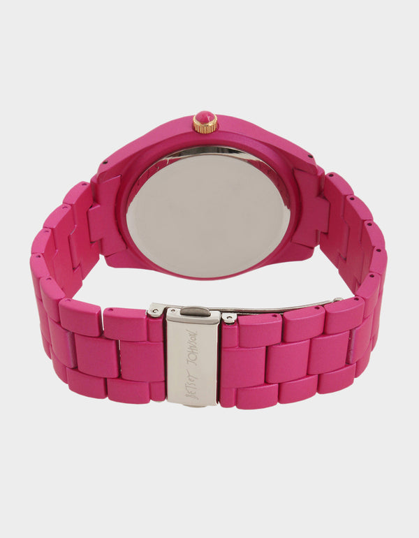 TECHNOSPIRIT WATCH FUSCHIA FAB - JEWELRY - Betsey Johnson