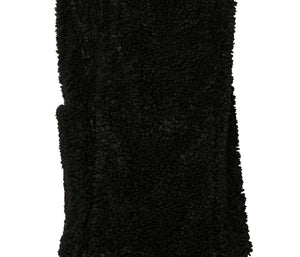 TEDDY FAUX FUR VEST BLACK