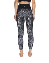 TEXTURAL PATCHWORK HIGH RISE LEGGING BLACK-WHITE - APPAREL - Betsey Johnson