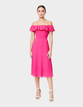 THINK PINK PEBBLE CREPE DRESS PINK - APPAREL - Betsey Johnson