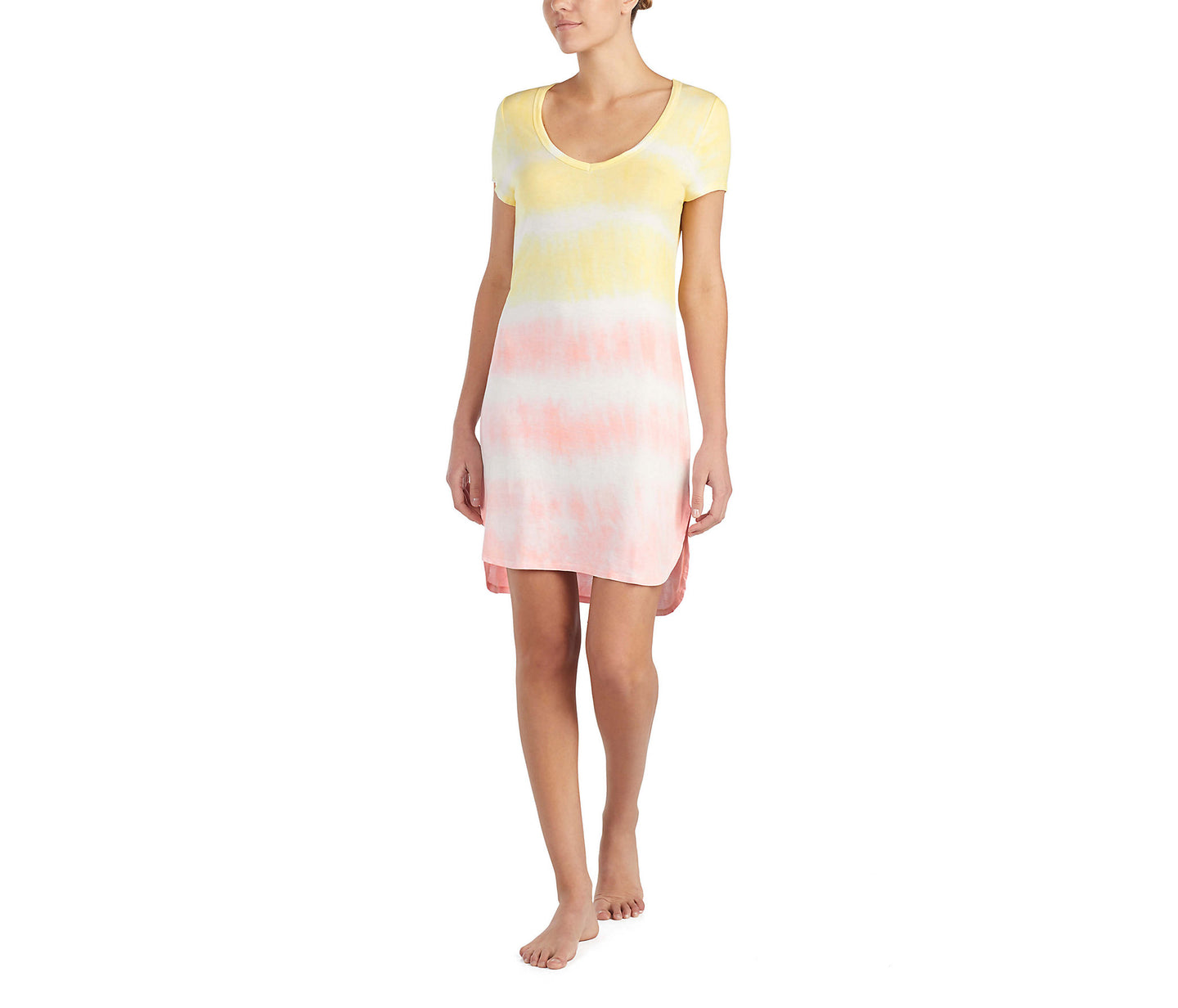 TIE DYE FOR BETSEY SLEEPSHIRT YELLOW MULTI - APPAREL - Betsey Johnson