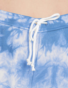 TIE DYE RAW EDGE SHORT BLUE