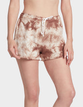 TIE DYE RAW EDGE SHORT MOCHA - APPAREL - Betsey Johnson