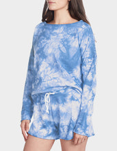 TIE DYE SPLIT BACK TOP BLUE - APPAREL - Betsey Johnson