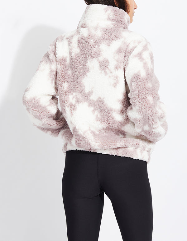 TIE DYE TEDDY FLEECE JACKET PINK - APPAREL - Betsey Johnson