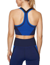 TONAL COLORBLOCK SEAMLESS BRA BLUE MULTI - APPAREL - Betsey Johnson
