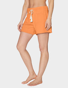 TOPSTITCH RAW EDGE SHORT CORAL
