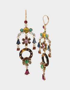TORTIFLY CHANDELIER EARRINGS MULTI