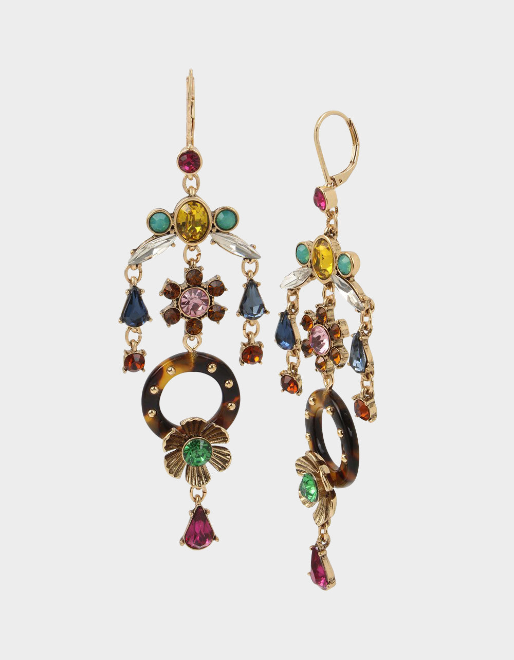 TORTIFLY CHANDELIER EARRINGS MULTI - JEWELRY - Betsey Johnson