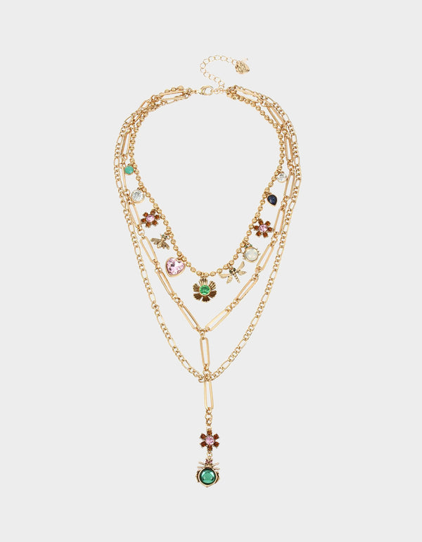TORTIFLY CHARM FRONTAL NECKLACE MULTI - JEWELRY - Betsey Johnson