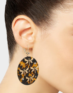 TORTIFLY DISC EARRINGS TORTOISE