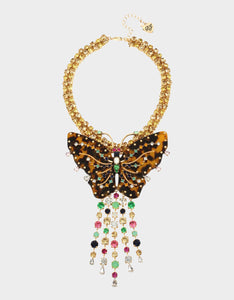 TORTIFLY STATEMENT BUTTERFLY NECKLACE MULTI
