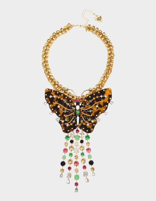 TORTIFLY STATEMENT BUTTERFLY NECKLACE MULTI - JEWELRY - Betsey Johnson
