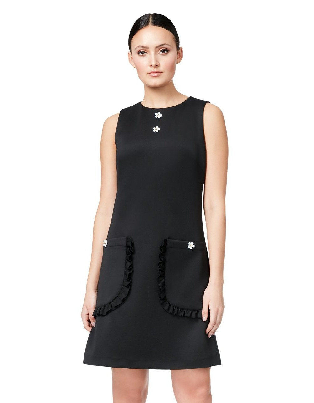 TOTALLY TECHNO DRESS WITH POCKETS BLACK - APPAREL - Betsey Johnson