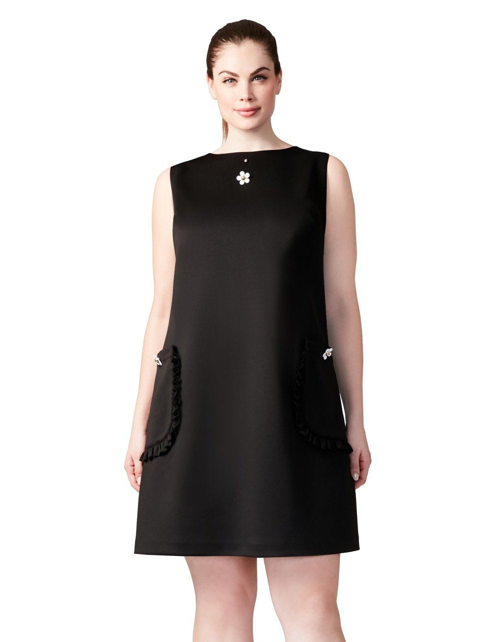 TOTALLY TECHNO DRESS BLACK (EXTENDED SIZING) - APPAREL - Betsey Johnson