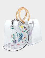TOTES CLEAR RING TOTE WHITE MULTI - HANDBAGS - Betsey Johnson