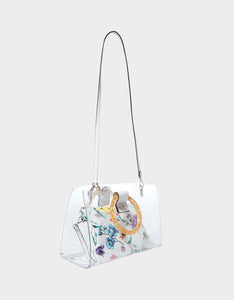 TOTES CLEAR RING TOTE WHITE MULTI