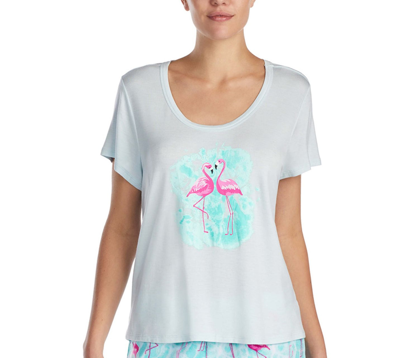 TROPICAL VIBES GRAPHIC TEE BLUE - APPAREL - Betsey Johnson
