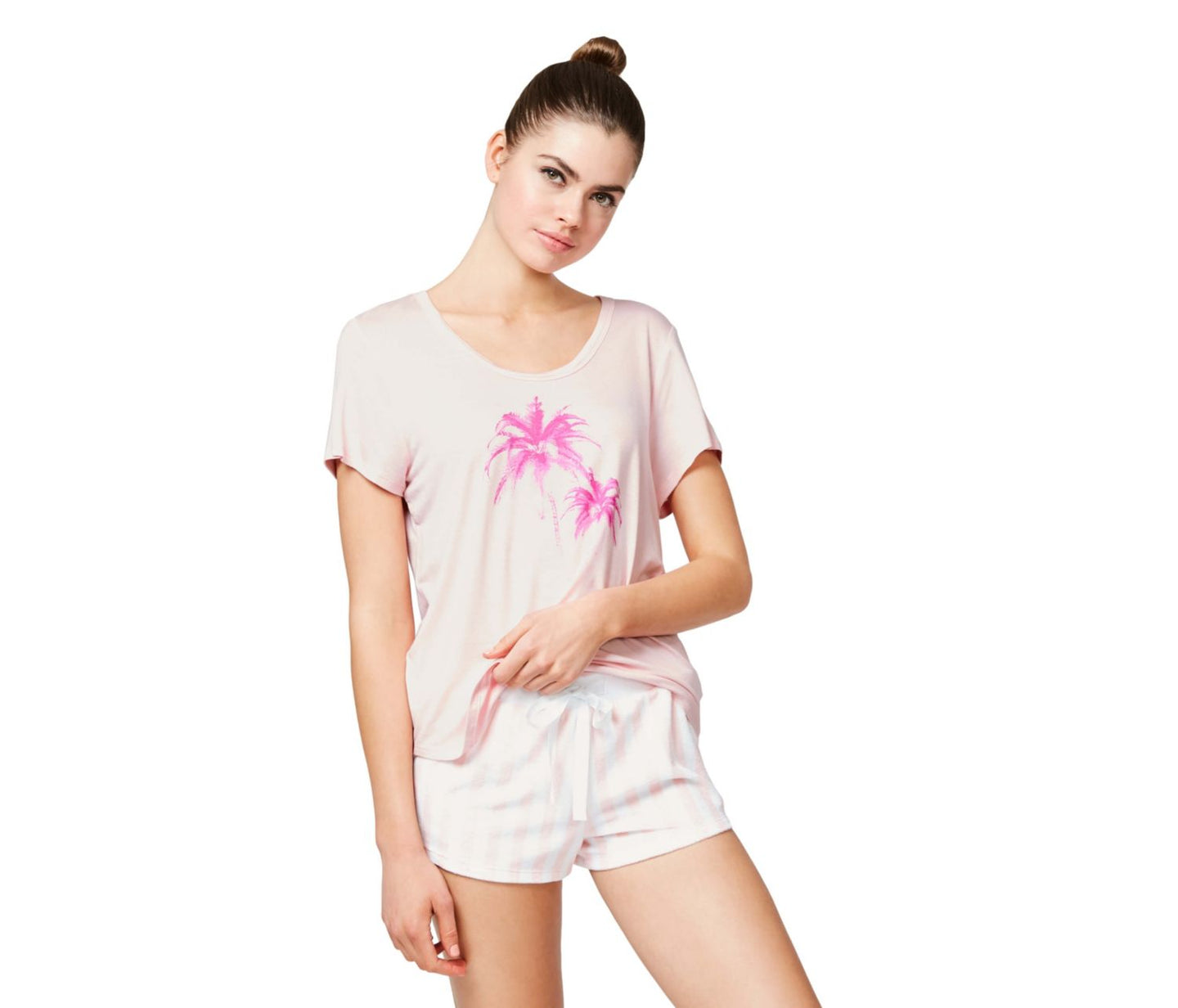 TROPICAL VIBES GRAPHIC TEE PINK - APPAREL - Betsey Johnson