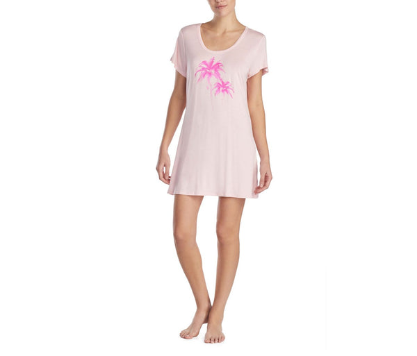 TROPICAL VIBES GRAPHIC TUNIC PINK - APPAREL - Betsey Johnson