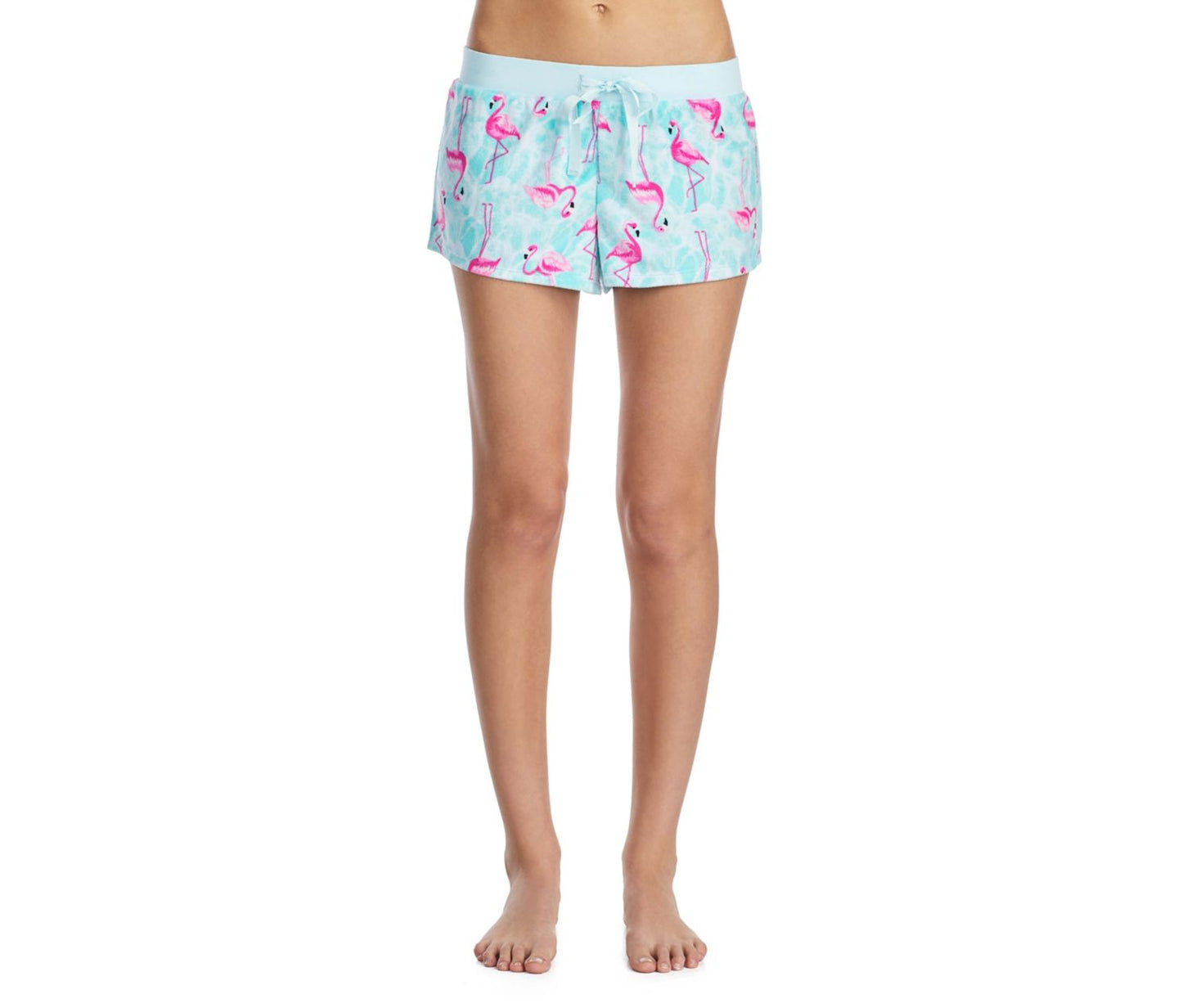TROPICAL VIBES TERRY SHORTS BLUE MULTI - APPAREL - Betsey Johnson