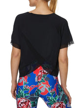 TULIP BACK RAGLAN TEE BLACK - APPAREL - Betsey Johnson