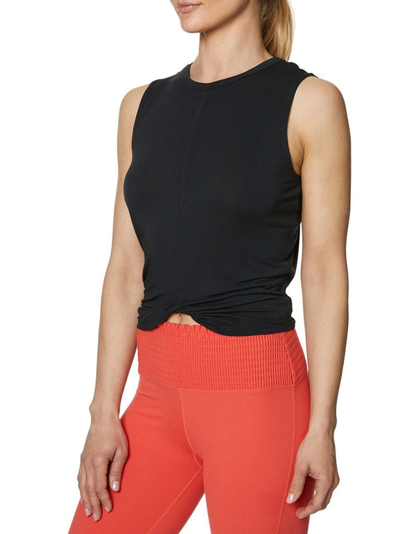 TWIST AND SHOUT CROP TANK BLACK - APPAREL - Betsey Johnson