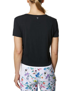 TWIST AND SHOUT CROP TEE BLACK