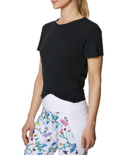 TWIST AND SHOUT CROP TEE BLACK - APPAREL - Betsey Johnson