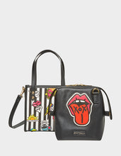 TWO IN ONE BETSEY ICONS SMALL TOTE BLACK-WHITE - HANDBAGS - Betsey Johnson
